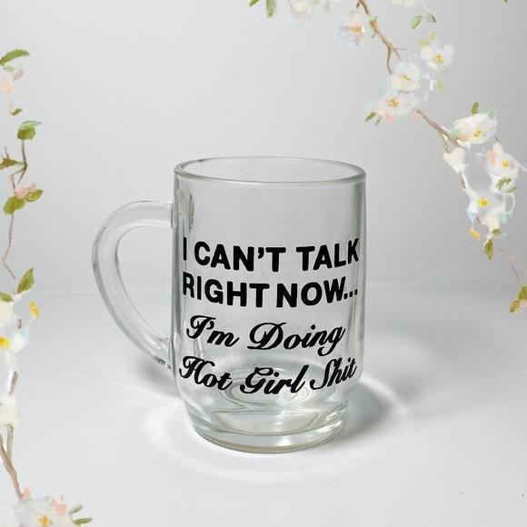 CUSTOM MADE GLASS COFFEE MUG